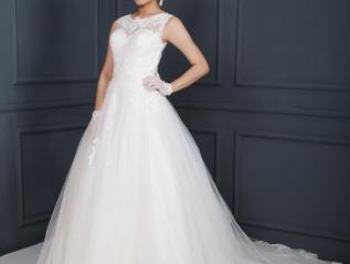 WG003 –  Tull & Organza A Line WeddingDress