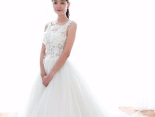 Fairy 3D Floral design Chiffon Ball Gown WeddingDress