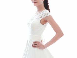 WG001 – A Line WeddingDress