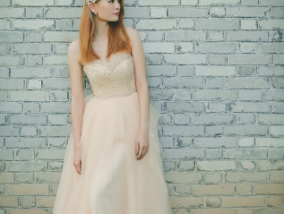 Romantic Sweetheart Neckline with Beaded Evening Gown