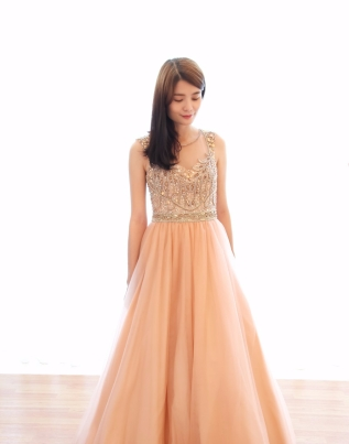 Shimmering Chiffon Evening Gown