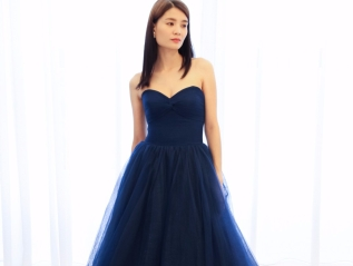 Chiffon Sweetheart Neckline Evening Gown