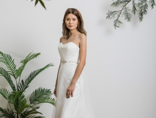 Simple White Lace Wedding dress