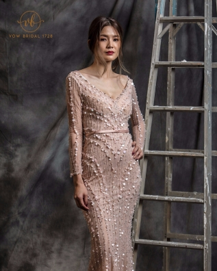 Long Sleeve Mermaid Evening Dress