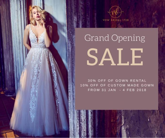 Grand Opening Sale – Wedding Gown Rental Kuala LumpurMalaysia