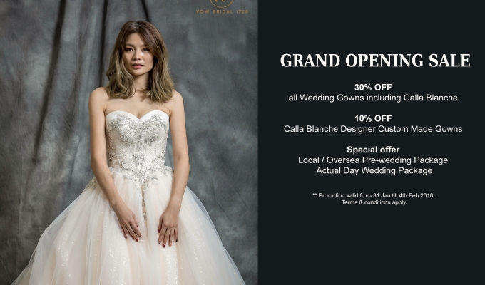 Wedding Gown Malaysia Grand Opening Sale By Vow Bridal