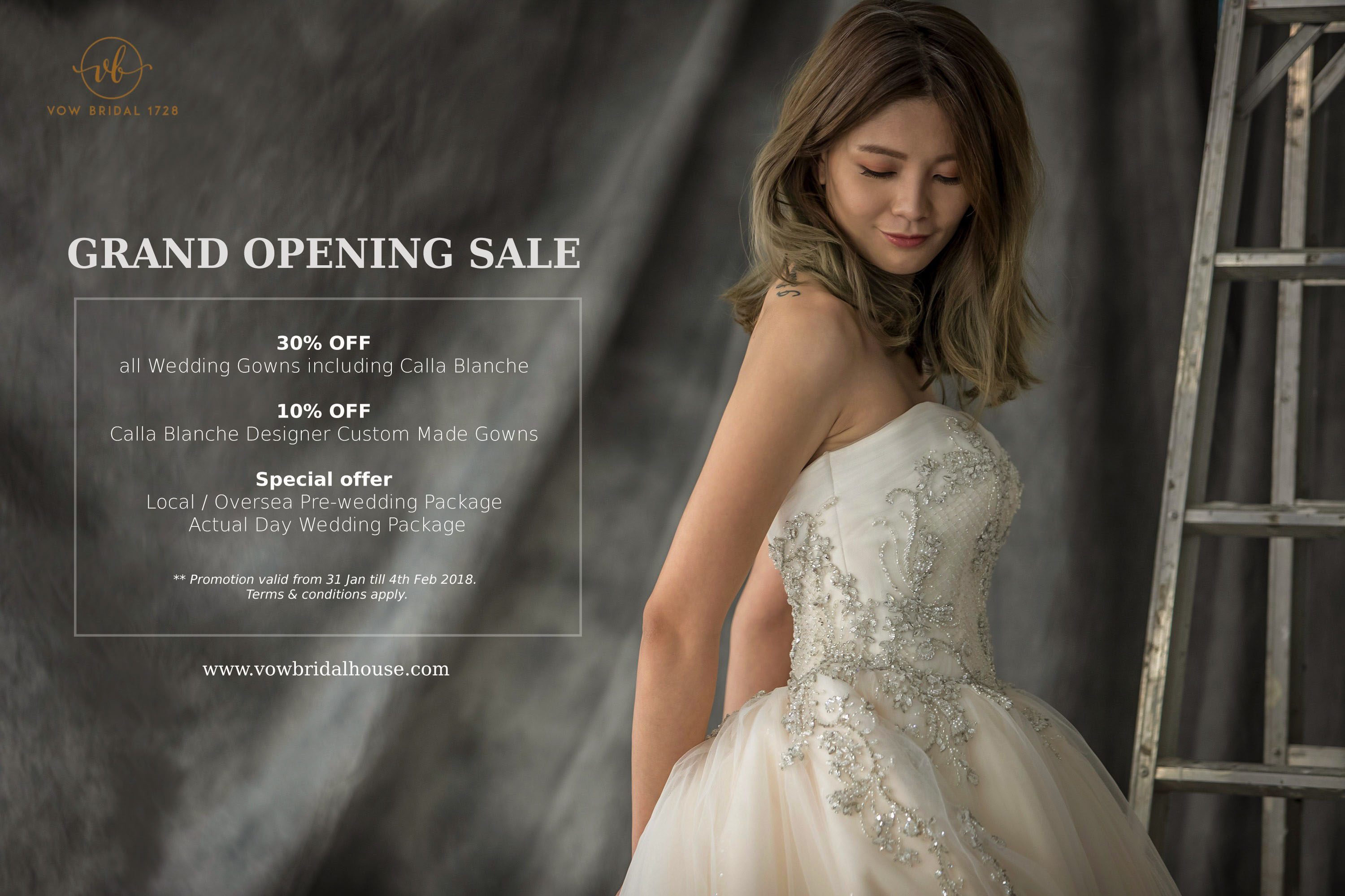 Vow Bridal Grand Opening Sale. Wedding Gown Rental Promotion | Vow ...