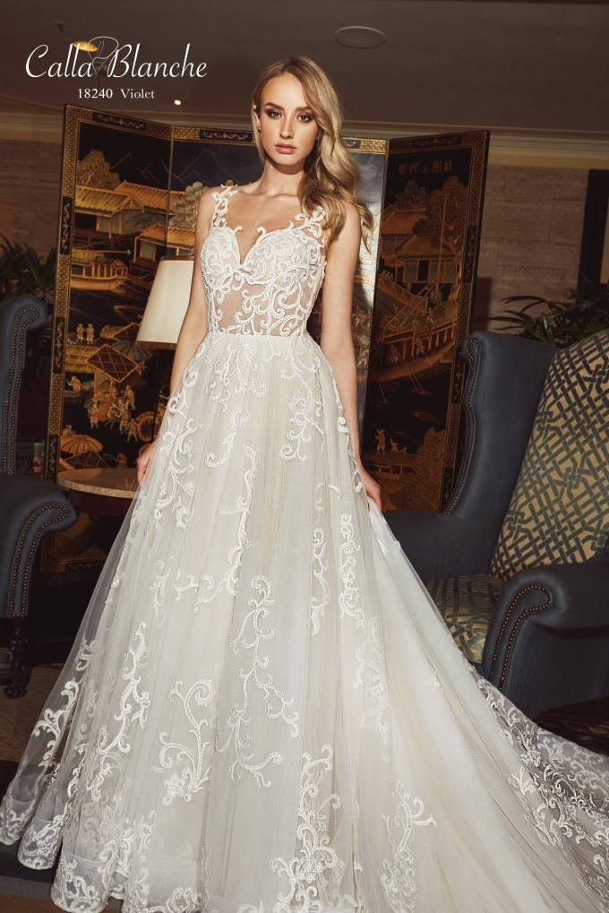 Premium Calla Blanche gown at Vow Bridal House
