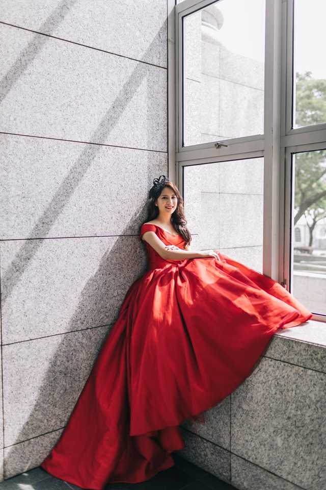 Red Wedding Gown by Vow Bridal House